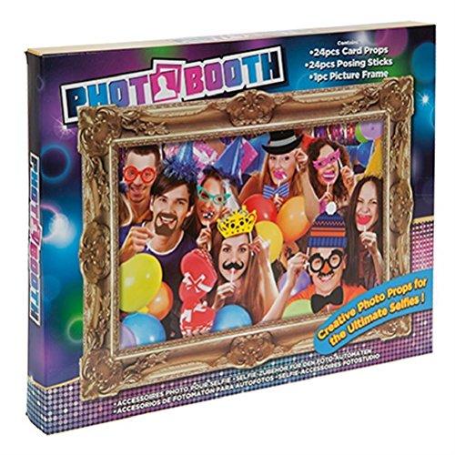 Booth 24Stück Posing Requisiten + Rahmen–Selfie Fun–Erwachsene (Wählen Sie Ihr Gift-halloween-party)