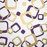 WANDfee Wandtattoo 64 Retro Vierecke mit FARBWUNSCH 2farbig Farbe Lila Gold