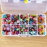 #9: 10slot 300pcs Transparent Acrylic Shiny Loom Bands Beads Set Jewelry Making Kit With Box Cute Gift