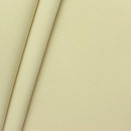 STOFFKONTOR Oxford Polyester Gewebe 600D Stoff Meterware Creme Weiss