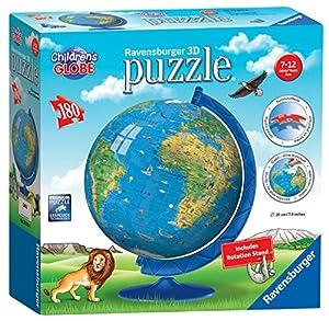 Ravensburger - Puzzle de 180 Piezas, diseño de Globo Mundial de niños