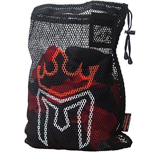 Meister WRAP BAG for Washing MMA & Boxing Hand Wraps - Drawstring Mesh LARGE by Meister MMA (Mesh-sporttasche Boxing)