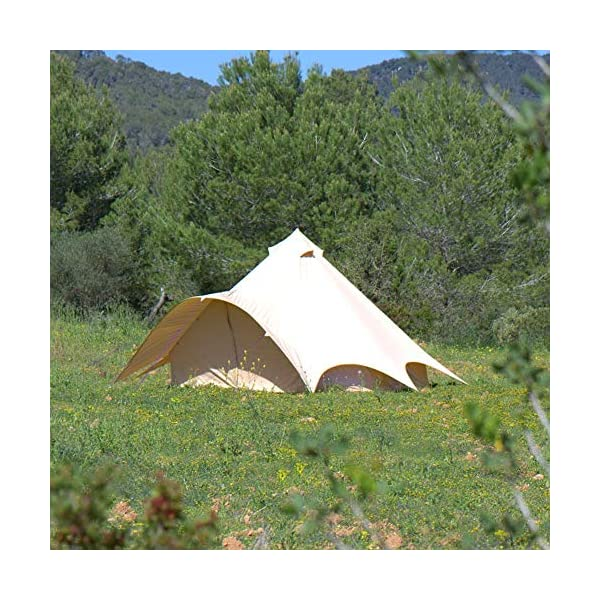 Boutique Camping Tents 5m Sandstone Star Bell Tent With Zipped In Ground Sheet 4