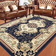 De estilo europeo, esteras de la alfombra mesa de café salón dormitorio de noche pavimentadas minimalista deslizamiento pastoral alfombra rectangular moderna de América