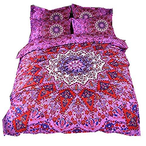 Juego funda nórdica fundas almohada Rojo púrpura