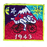 imzauber Bosque Hofmeister Muñeco Bicycle Day Rosa Purple parche (8.5 cm Patch, Negro Luz activo) Psychedelic LSD Goa Trance Trip Patch Acid Rosa