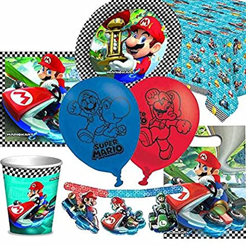 Mario Kart Ultimate Party Supplies Pack for 8