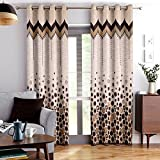 Story@Home Berry Blackout 1 Piece Jacquard Door Curtains for Living Room and Bed