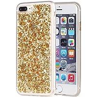 Iphone 7 Plus Case,Ranrou Luxury Bling Glitter Sparkle [Gold Foil