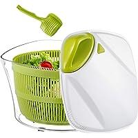 Focovida Essoreuse à Salade Grande Capacité 5L sans BPA, Essorage Efficace avec Nouvelle Poignée/Grille d'Evacuation d…