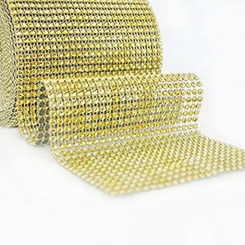 Fqtanju Argent Diamant étincelant Strass ruban en maille pour cas