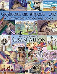Greyhounds and Whippets : One : A dog lover's greyscale colouring book