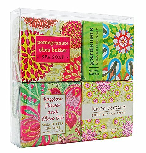 In Bloom Soap Sampler - Boxed Set of 4 Assorted Scents by Greenwich Bay Trading - Soap-sampler