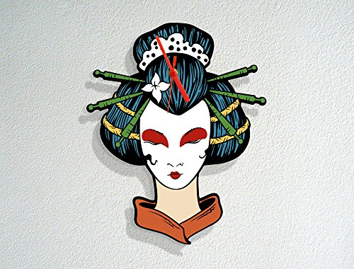 imono - Traditional Japanese Culture - Modern Novelty Gift - Custom Acrylic Wall Clock (Geisha Make Up Ideen)