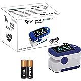 DR VAKU Pulse Oximeter Finger Blood Oxygen SpO2 Monitor FDA CE Approved | Make in India (Blue)