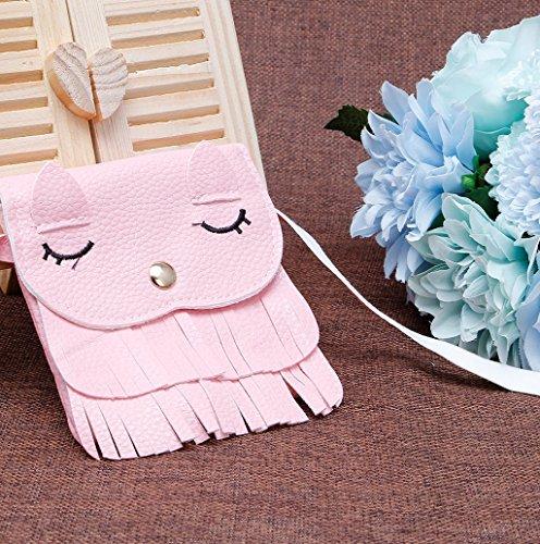 Dairyshop Borse a tracolla della borsa delle ragazze delle donne borsa della borsa del sacchetto della borsa del sacchetto della traversa (Arancio) Rosa