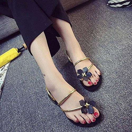 ... Amlaiworld Femmes Bohême Fleur Sandales Peep-toe Tongs Chaussures  Pantoufles Pour La Plage D  467d1bfdd8b3