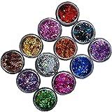 Set di pezzi farbiger chiodo Glitter Design Rombus Glitter per unghie nail bunt