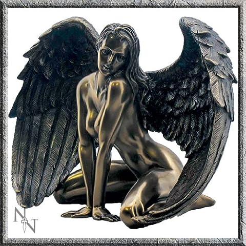 Bronze Effect Seductive Angel Female Figurine 17.5