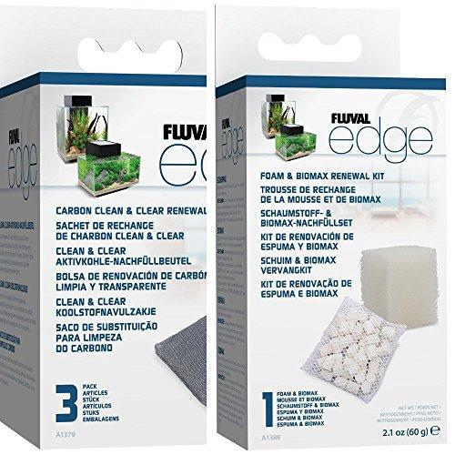 fluval edge zubehoer Fluval Edge Schaumstoff / Biomax Filtermaterial, 3 Stück