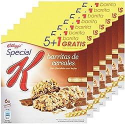 Special K - Barrita De Cereales Chocolate Con Leche, 6 x 20 g - [Pack de 7]