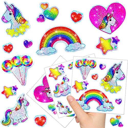 - Kleine Einhorn Glitzer Sticker Bögen ┃ NEU ┃ Einhorn ┃ Kindergeburtstag ┃ Mitgebsel ┃ Regenbogen ┃ Aufkleber für Kinder ┃ 12 Bögen (Kleines Mädchen In Despicable Me)