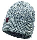 Buff Knitted Hat Braidy Mütze, Grey, One Size