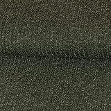 Strickstoff Meliert Anthrazit Einfarbig Uni Strickjersey Modestoffe Strick melangeeffekt - Preis Gilt für 0,5 Meter