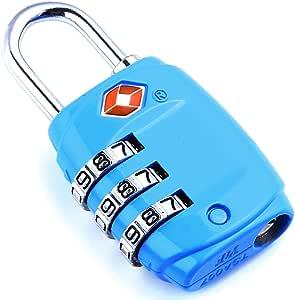 DonDon Reiseschloss TSA Travel Sentry Approved Gepäckschloss blau