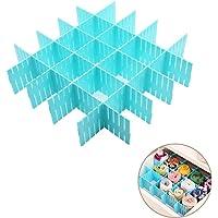 Onerbuy 8 pcs Réglable Grille Tiroir Diviseurs DIY Plastique Placard Séparateur Rangement Organisateur Conteneur pour…