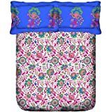 Portico New York Hazel Printed Cotton Multicolor King Size Double BEDSHEET With Pillow Cover- 224X274 Cm