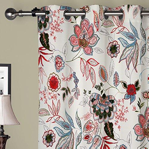 iyuego Bright Farbe Blumen Tülle Top Gefüttert Verdunklungsvorhänge Vorhänge mit Multi Größe Custom, Textil, mehrfarbig, 72