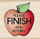 Hero Arts Please Finish and Return Apple Woodblock Stamp
