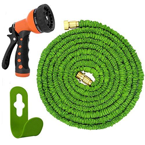 Magic Vida 100% Geld Zurück Garantie Gartenteichschlauch dehnbar Gartenschlauch flexibel Flexischlauch 30M Wasserschlauch flexibel Gartenschlauch 30M mit 7 in 1 Funktionen Brause und Halterung