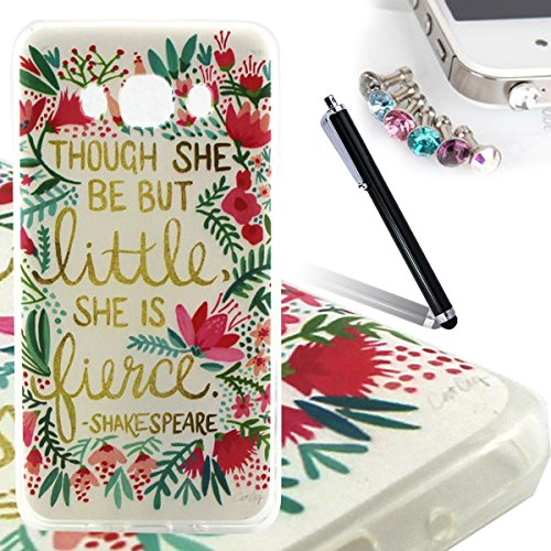 ANNNWZZD Samsung Galaxy J5 2016 TPU Hülle Case Transparent Handyhülle Schutzhülle Exklusives Vintage-Blumenmuster wunderschön und stilvoll TPU Crystal Clear Case Backcover Bumper Slim case Perfekt Pas A03