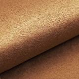 NOVELY® Alpen Polsterstoff im Wildleder Look | Bezugsstoff | Microfaser | Velours | Möbelstoff (38 Hellbraun)