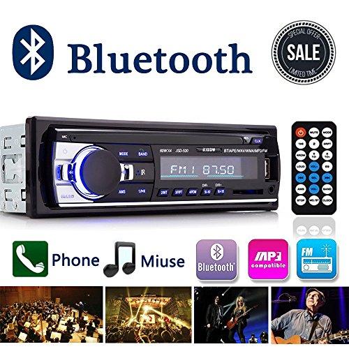 Autoradio Bluetooth, Digital Media Ricevitore Auto audio stereo con vivavoce Bluetooth, Supporto Auto Radio FM Riproduttore MP3 Player USB/SD/AUX con Telecomando