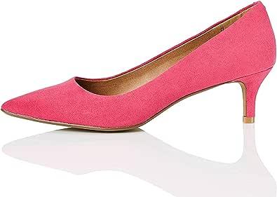 Marchio Amazon - find. - Kitten Heel Court, Scarpe con Tacco Donna