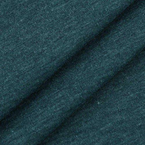 ESAILQ Femmes Impression Patchwork Décontracté Confortable lâche Manches Longues T-shirts Chemisiers Vert