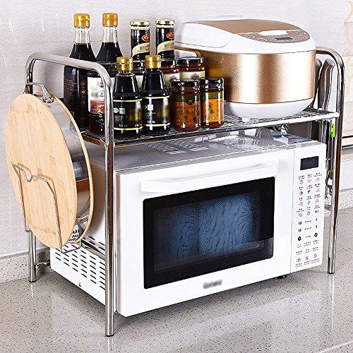 Rangement de cuisine Modèle De Sol Four À Micro-Rack, Organisation De Cuisine En Acier Inoxydable Support De Rangement ( Couleur : 58cm-Knife chopsticks holder )