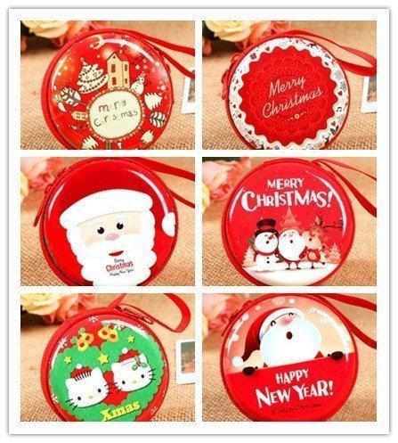 UChic 6 STÜCKE Kreative Weihnachtsferien Geschenke Süßigkeitstasche Geldbörse Ändern Halter Kopfhörer Bluetooth Headset Tragetasche Ladekabel Earbud Box für Xmas Stocking Stuffer (Buxton Damen Geldbörse)