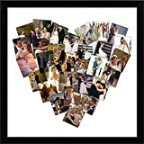 ArtzFolio All Hearts - MEDIUM Size 24inch X 24inch (61cms X 61cms) Including 1 Inch Wide Frame - CANVAS PHOTO COLLAGE With BLACK COLOUR NATURAL WOOD FRAME: Decorative & Designer Personalised & Customised Gifts For Him, Her, Family, Friends, Father
