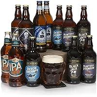 Selección de cerveza real y artesanal - La cesta perfecta para el amante de la cerveza - Una gran caja con cervezas selectas para él