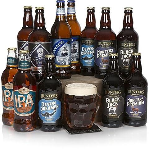 Der Geschmack Spaniens - Bier-Präsentkorb - Geschenkkörbe für Ihn - San Miguel Bier und scharfe Leckereien