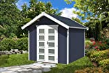 SKAN HOLZ Gartenhaus Hengelo 28 mm, Gartenhäuser, schiefergrau, 300 x 250 x 273 cm