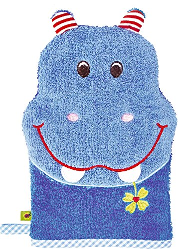Spiegelburg Serie Baby Glück Hipp, hipp, hippo! Nilpferd (Waschhandschuh Hippo)
