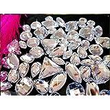 300pcs mezcla tamaño de la forma carga para coser en cristal de acrílico plateado brillantes Loose Beads Strass para coser a mano para vestido de mujer