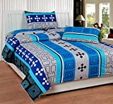 Soni Traders Blue Abstract Design Pure C...