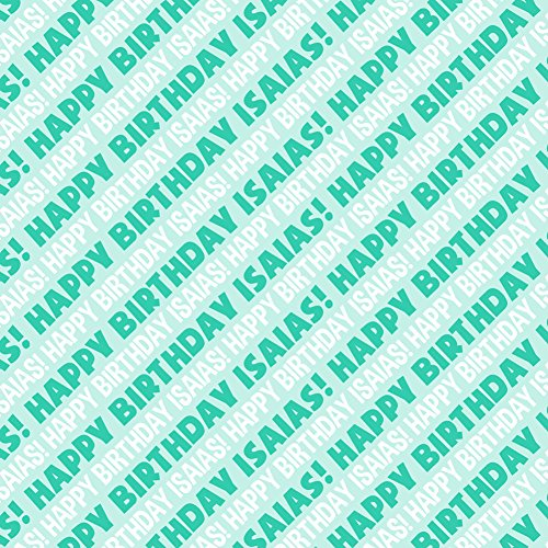 isaias-happy-birthday-premium-gift-wrap-wrapping-paper-roll-teal