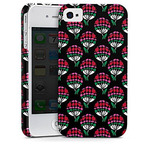 Apple iPhone X Silikon Hülle Case Schutzhülle Blumen Muster Dreiecke Premium Case glänzend
